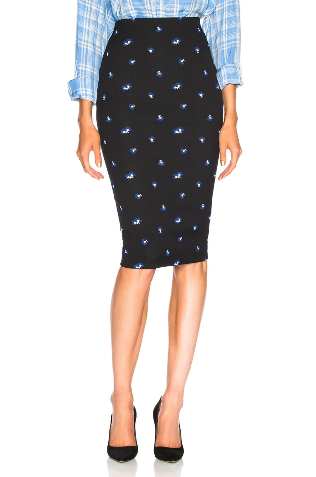 Jual Victoria Beckham Mini Floral Pencil Skirt 100 Original Azure Fashion Star Pants Legging Celana Panjang