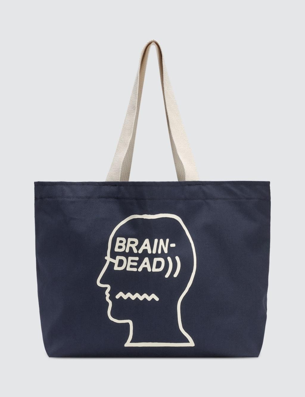 buy original brain dead logo tote bag at indonesia bobobobo. Black Bedroom Furniture Sets. Home Design Ideas