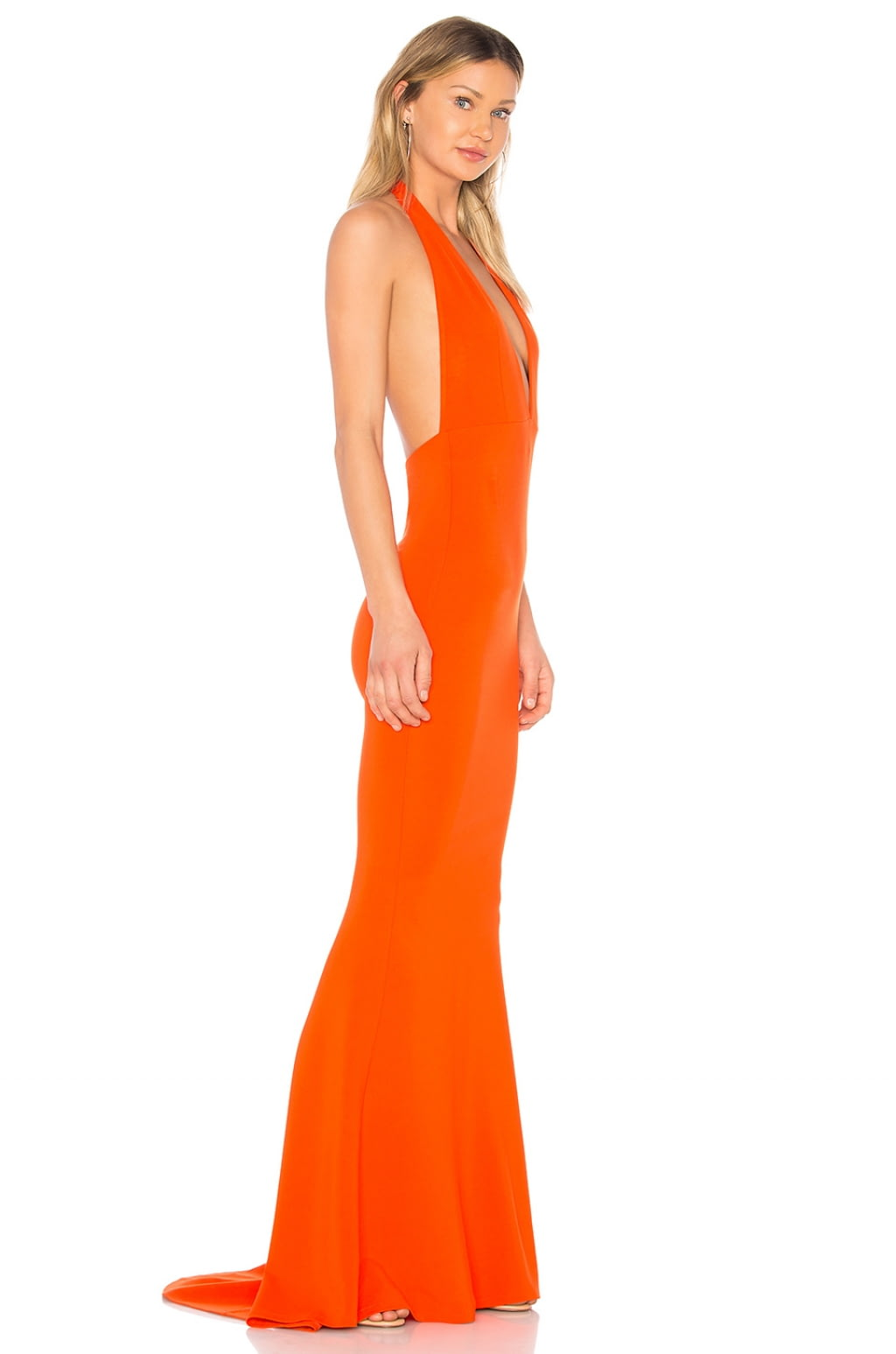 Jenny From The Block Gown in Orange. - size L (also in M,S,XL,XS,XXS) NBD