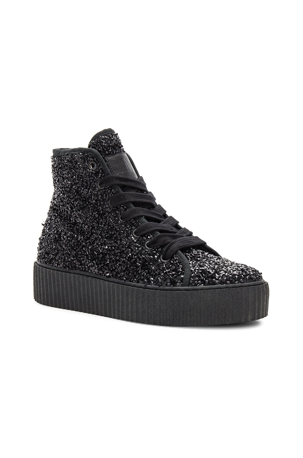 Curly hi-top sneakers - Black Maison Martin Margiela P8iHoB