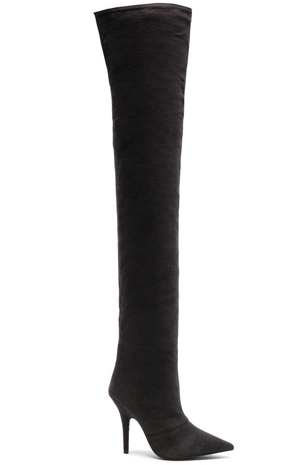 Yeezy Season 6 Washed Canvas Thigh High Boots in . ZQl4weF5