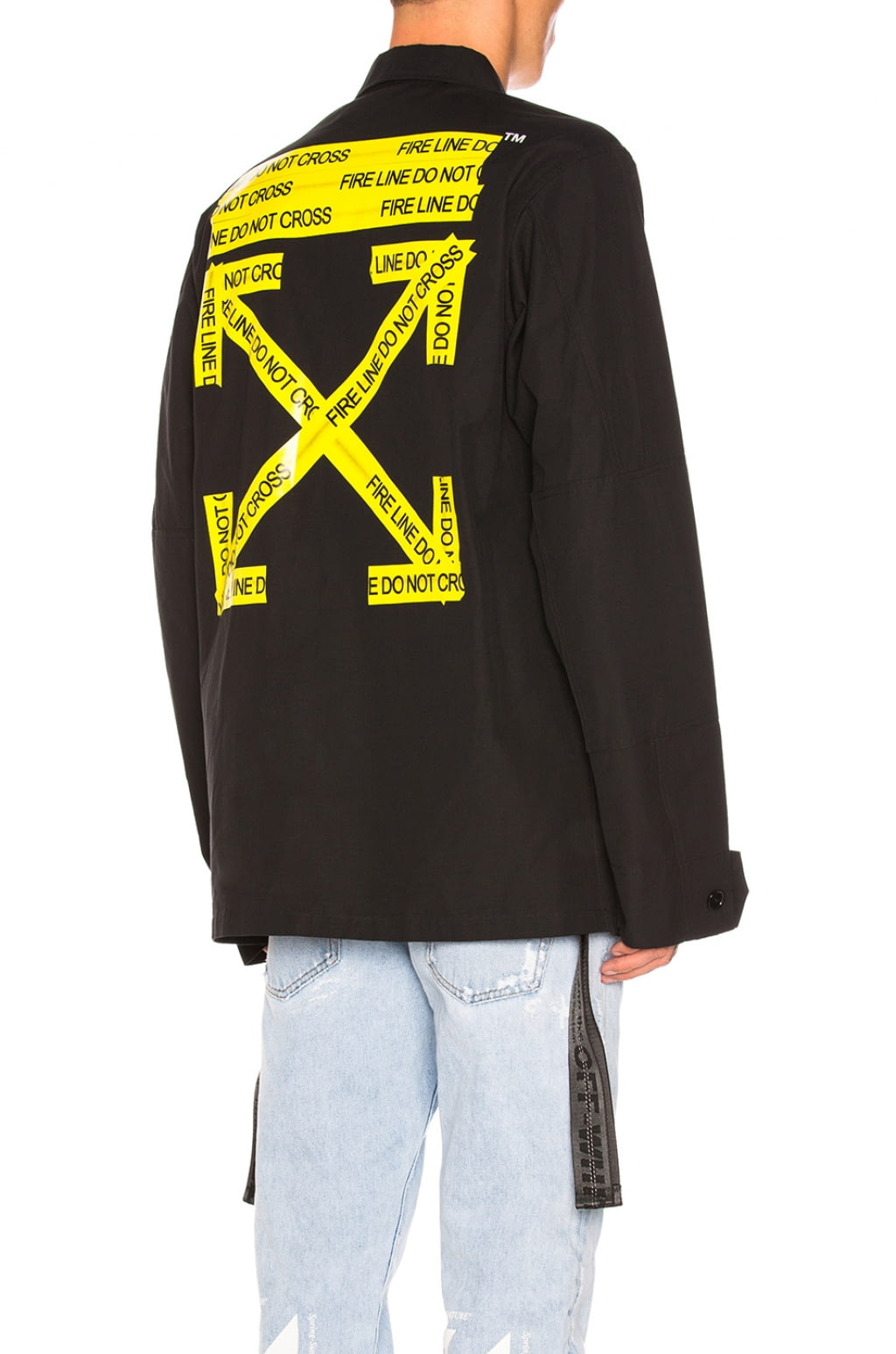 buy original off white firetape field jacket at indonesia bobobobo