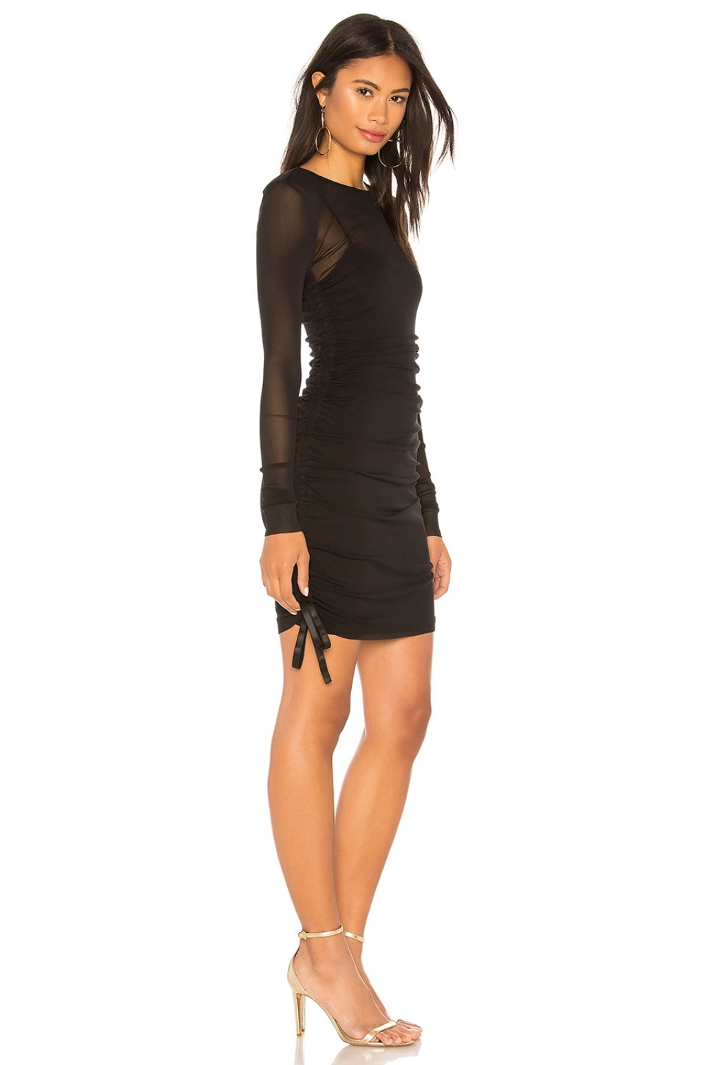 Mesh Cover Up Mini Dress in Black. - size L (also in M,S,XS) Kendall + Kylie