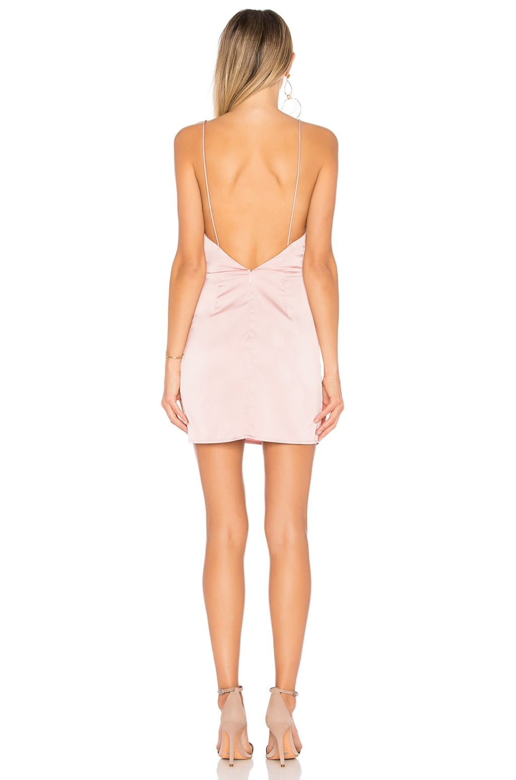 Kimora Satin Pleated Dress in Blush. - size L (also in M,S,XL,XS,XXS) by the way.