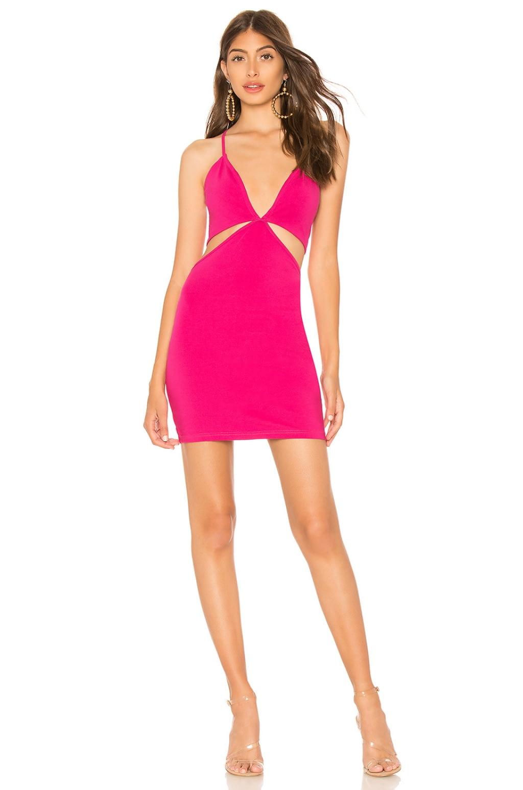 Mel Cut Out Mini Dress in Fuchsia. - size XXS (also in L,M,S,XS) by the way.