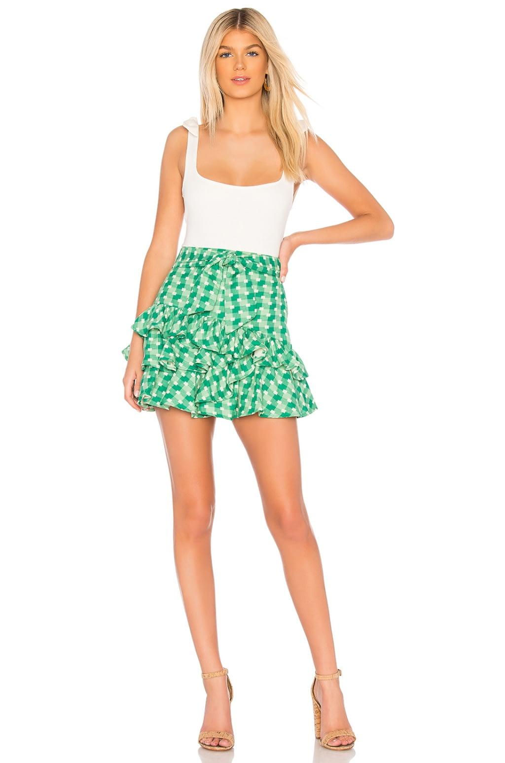 Sadie Skirt in Green. - size L (also in M,S,XL,XS,XXS) Tularosa