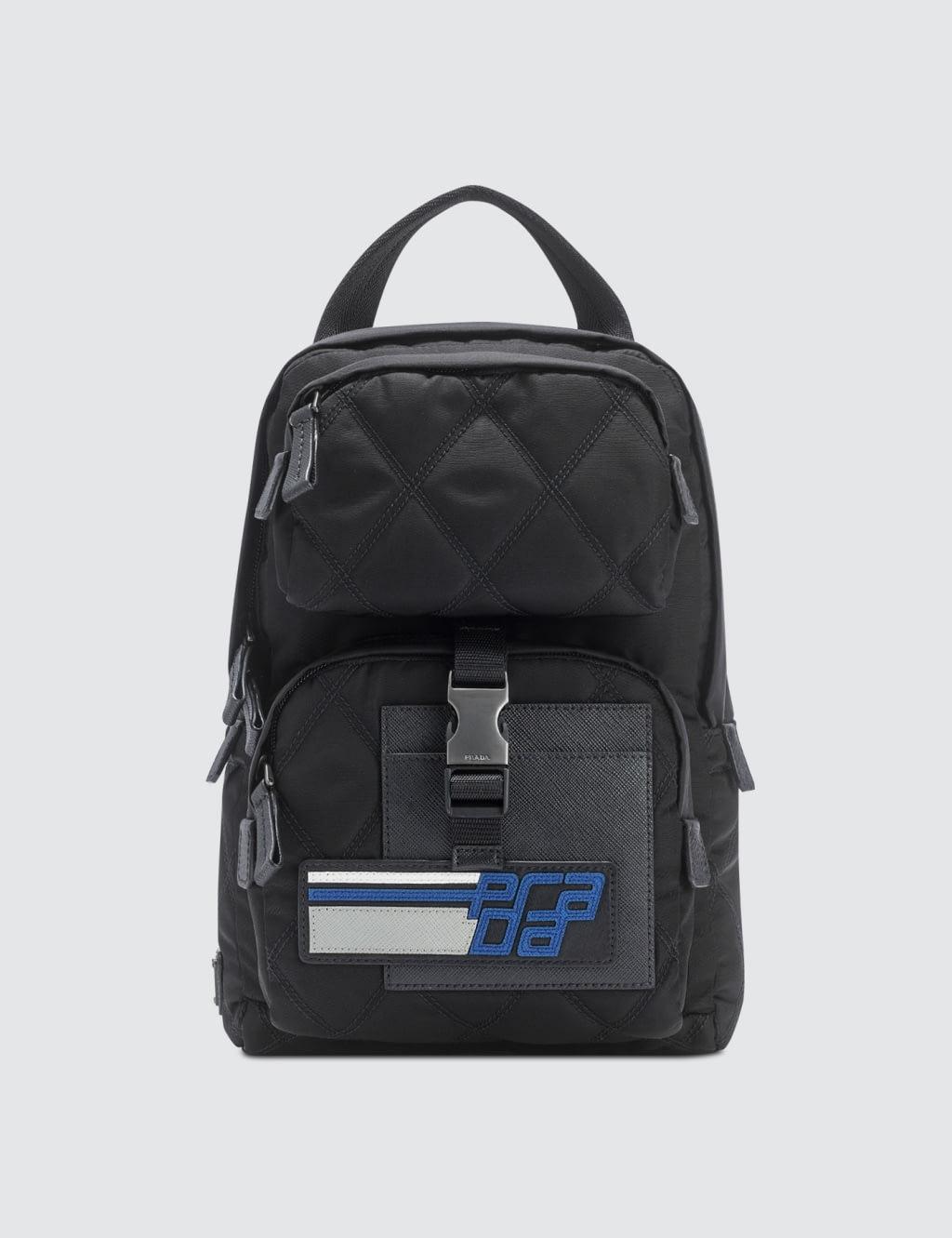 487774257077 Black Nylon Backpack Prada- Fenix Toulouse Handball