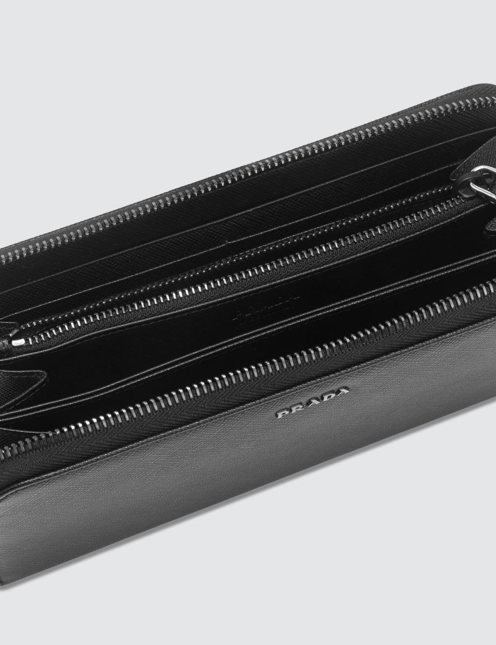 3f378c7ed41ed7 ... order prada black travel wallet with zip 7ca02 867b1