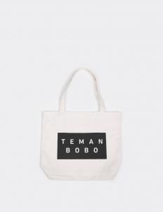 Teman Bobo Teman Bobo White Logo Tote Bag