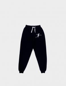 Footurama Past Future Sense Black Cotton Sweatpants II