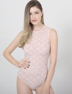 Raquel Lingerie Pink Giana Bodysuit Lingerie