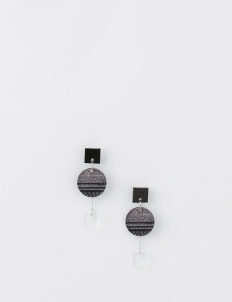 ISTAFADA Glitch Circle Earrings