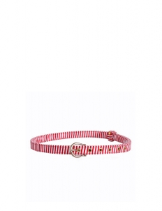 Spotlight Red Striped Retro Belt