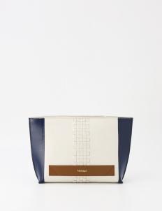 Meraki Goods 3 Tone Trapez Weave Clutch