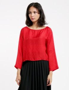 Larissa Duliar Red Alli Long Sleeved Blouse