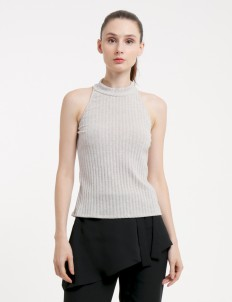 CLOTH INC Gray Cora Top