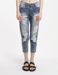 Sixteen Denim Scale Blue Maxie Boyfriend 1606 Jeans