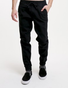 Sixteen Denim Scale Black Horton Sf 04 Jogger Pants