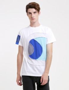 Phantasma White & Blue Spiral T-shirt