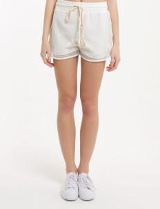Douche White Web Shorts