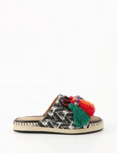 Tigah Home Rainbow Espadrilles Sliders Sandals