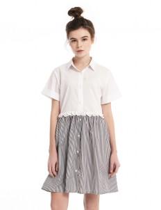 M By Mischa Black Stripes Melville Dress