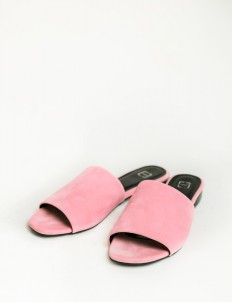 Eesome Dusty Pink Alph Suede Sandals