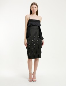 Michelle Worth Black Lilith Dress