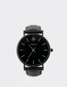 Chronicle Timepiece Black Gray Bouverie 36 mm Watches