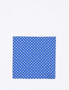 The Cufflinks Store Blue Polka Pocket Square