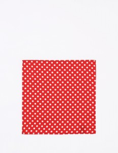 The Cufflinks Store Red Polka Pocket Square