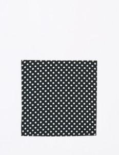 The Cufflinks Store Black Polka Pocket Square