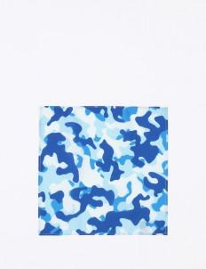 The Cufflinks Store Blue Camo Pocket Square