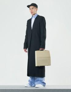 Patrick Owen Black Sashiko Wool Coat