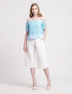 CLOTH INC Sky Blue Oceana Off Shoulder Top