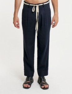 Moussa Navy Blue Purna Pants