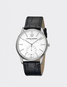 Charles Jourdan Black & Silver CJ1021-1312 Man Watch
