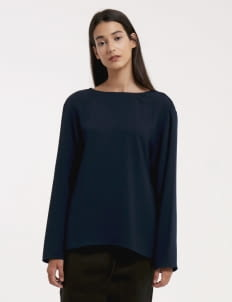 Wastu Navy Reversed Top