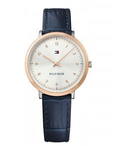 Tommy Hilfiger Navy 1781764 Rose Gold Dial Watch
