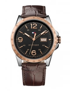 Tommy Hilfiger Black 1791255 Brown Dial Watch