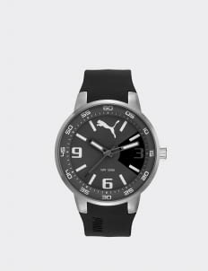 Puma Watches Black & Silver Quartz Classic Sport Men Watch