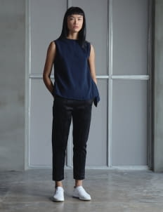 Wastu Navy Cicada Top