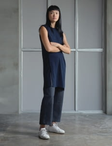 Wastu Navy Short Tunic