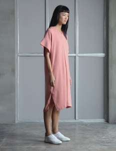 Wastu Pink Camelia Squid Dress