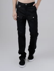 Moral Black Neo Cargo Pants