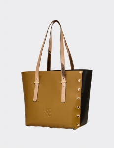 BOPA Gold & Black Carré de Oro Handbag