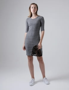 Someday Gray Bels Knit Dress