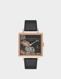 Olivia Burton Black & Rose Gold OB16WG27 Winter Garden Watch