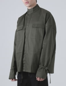 Moussa Olive Hisa Overlenght Sleeve Outer