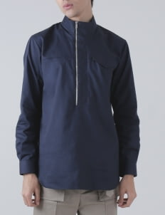 Moussa Blue Kashi Half Zipper Jacket